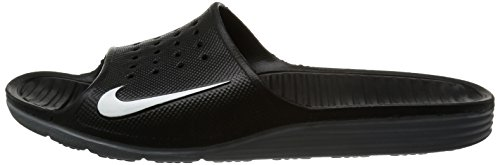 Nike Solarsoft Slide Herren Turnschuhe, Negro / Blanco, 48.5 EU -