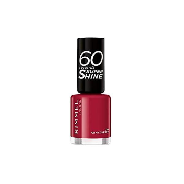 Rimmel London 60 Seconds Super Shine 710-Oh My Cherry – 1 Unidad