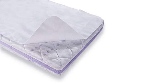 Träumeland T090121 Fodera coprimaterasso con protezione contro il bagnato, superficie confortevole per la pelle, impermeabile, 60 x 120cm