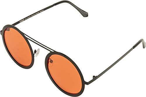 Urban Classics Unisex-Erwachsene 104 Chain Sunglasses Sonnenbrille, blk/orange, one size