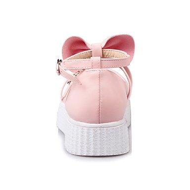 Confortevole ed elegante piatto scarpe donna Appartamenti Primavera Estate Autunno Inverno altri PU Office & Carriera Abbigliamento Sportivo tacco piatto Bowknot fibbia Nero Bianco Rosa Pink