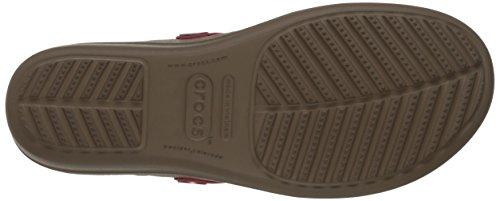 Crocs Sanrah Wedge Sandal Coral/Tumbleweed
