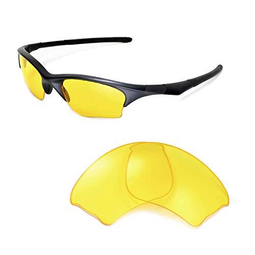 Walleva Ersatzgläser für Oakley Half Jacket XLJ Sonnenbrille-Mehrfache Optionen (Gelb)