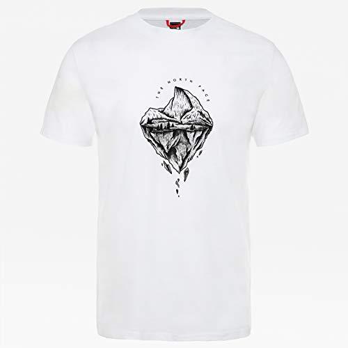 The north face m s/s flash t-shirt girocollo a maniche corte, uomo, bianco (tnfwt/tnfb/tnfb), xl