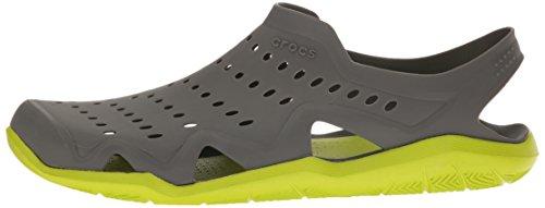 Crocs Herren Swiftwater Wave Brogue, Grau (Graphit / Volt / Grün), 375 EU -