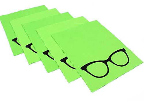 5x Premium Mikrofaser Brillenputztuch | NEU 2019 noch besser | molinoRC Putz-Tuch Displayputztuch | 18cm x 14,5cm | Kamera iPad iPhone Tablet PC | Brillenputztücher |  aus