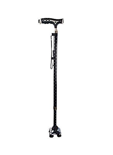 Landwirbeltiere Alu GEHSTOCK Teleskop höhenverstellbar 74–94,5cm mit LDE drehbar Vier Ecke Sockel rutschfest klein 4Bein Boden (1 2-zoll-seil-licht)