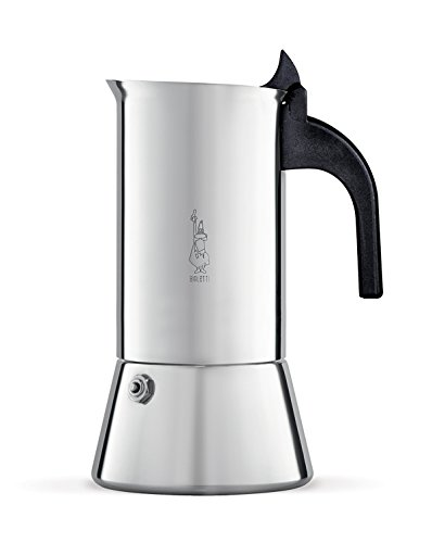 Bialetti Elegance Venus Induction 4 Cup Stainless Steel Espresso Maker