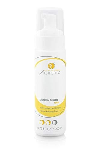 AESTHETICO active foam - 200 ml - Porentief reinigender Schaum mit Glycol- und Salizylsäure für unreine und aktivierungsbedürftige Haut