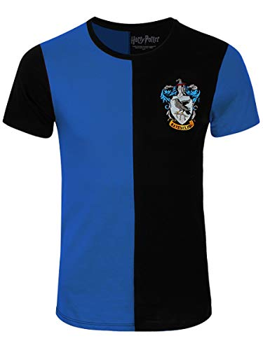 Harry Potter Herren T-Shirt Ravenclaw Tournament Baumwolle blau schwarz - M