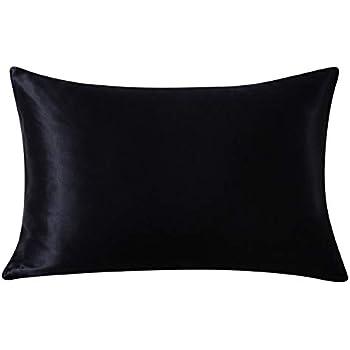 Jasmine Silk 100 Charmeuse Silk Pillowcase Black 50 Cm