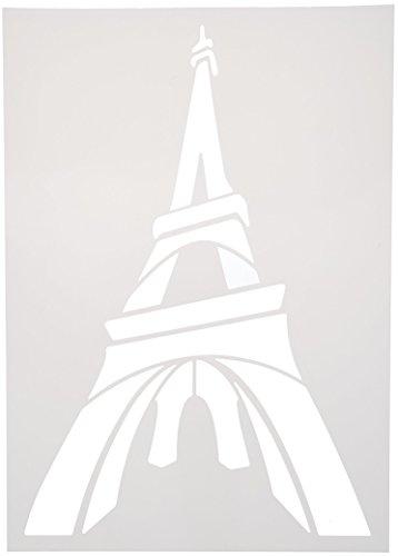 Kultur Club 10981Schablone Monuments Kunststoff waschbar A4Tour eiffel-statue liberté-big ben-tour pise-tower bridge-taj Mahal verschiedene Farben