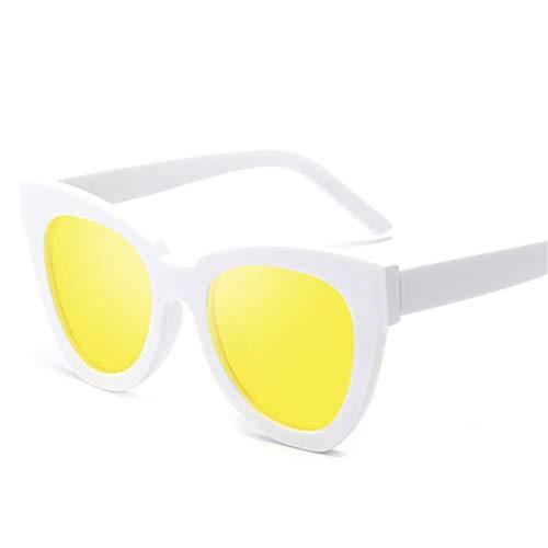 Wenkang Cat Eye Sonnenbrille Frauen Männer Sonnenbrille Fashion Mirror UV400 Pink Sunglass Shades Eyewear,1