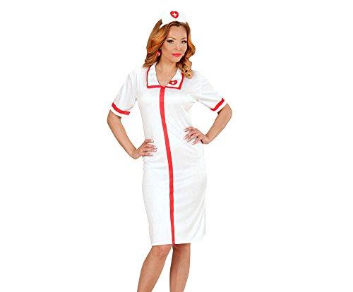 Widmann 00042 - Erwachsenenkostüm Krankenschwester, Kleid und Häubchen, (Ideen Krankenschwester Kostüme)