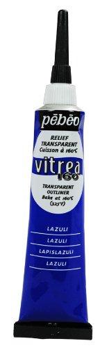 Unbekannt Pebeo Vitrea 160Outliner Glasmalerei, 20Tube, Lazuli Lazuli (Pebeo Vitrea 160 Farbe)