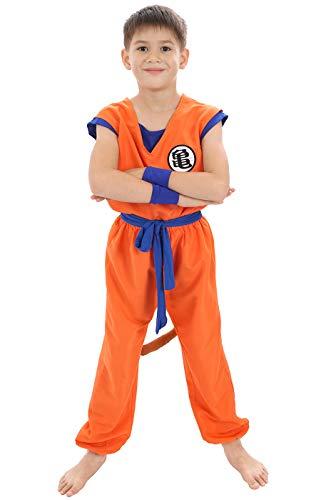 Disfraz para niños de Son Goku, tamaño 130
