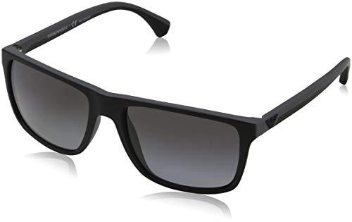 Emporio Armani Unisex 5229t3 Sonnenbrille, Mehrfarbig (Black/Grey Rubber, Large (Herstellergröße: 56)