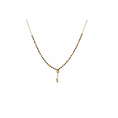 Parinaaz Gold Plated Stylish Delicate Mangalsutra Pendant with Chain for Girls