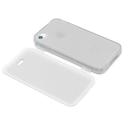 ebestStar - pour Apple iPhone 4S, 4 - Housse Etui Coque Silicone Gel Portefeuille + Mini Stylet tactile + 3 Films protection écran, Couleur Vert [Dimensions PRECISES de votre appareil : 115.2 x 58.6 x Transparent
