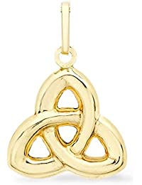 TJC 9ct Yellow Gold Highly Finished Celtic Knot Daily Wear Pendant for Women & Girls