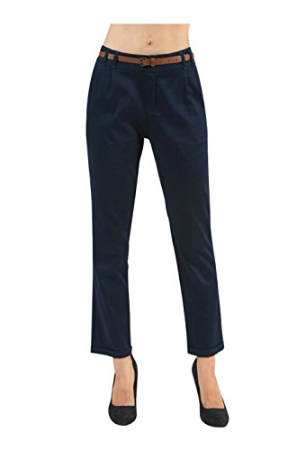 2LUV Damen Low Rise Cord Skinny Pants, Blau Cords Corduroy Pants