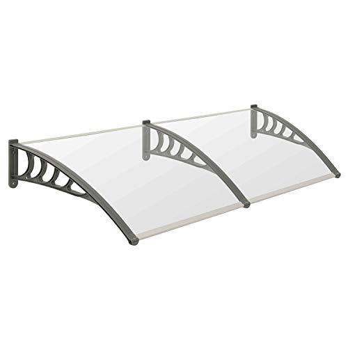 Vordach für Haustür, Terrasse und Garten, transparente PC Dachplatten, in verschiedenen Größen...