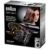 Braun HD530–Sèche Cheveux de Voyage avec Technologie Ionique, noir