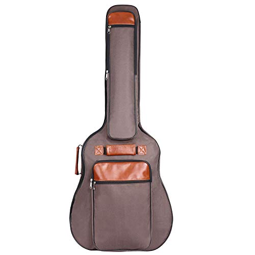 CAHAYA Gitarrentasche 41 Zoll Gigbag wasserdichte Oxford Gitarren-Bag 12mm gepolstert mit Rucksackgarnitur 40 41 42 Zoll Gitarre - Braun
