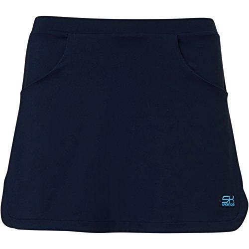 Sportkind Mädchen & Damen Tennis / Hockey / Golf Classic Rock mit Taschen & Innenhose, navy blau, Gr. S