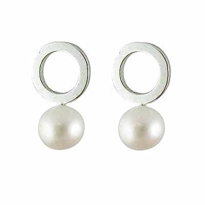 Boucles d'oreilles perle de culture argent