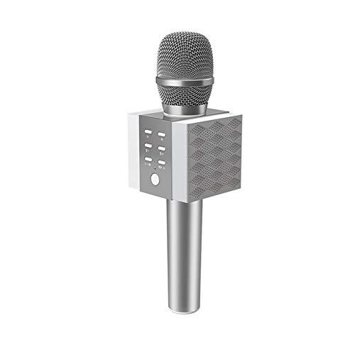 ZYWX Kabelloses Bluetooth-Telefonmikrofon, K-Lautsprecher-Mikrofon, Lautsprecher, Für Familienfeiern, Karaoke, Tragbar, Gesangsmikrofon, Grau