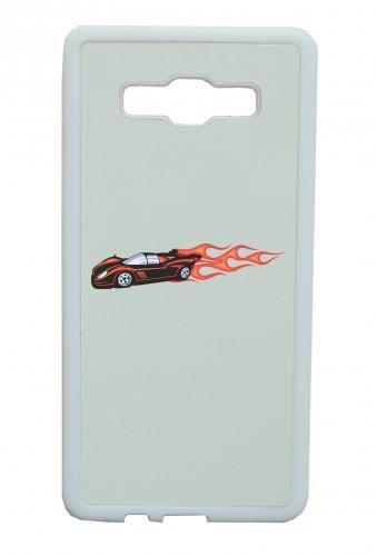 Smartphone Case Sport Wagen Hotrod con fiamme rosse fuoco dell America Amy USA Auto Car lusso larghezza Bau V8V12Motore cerchione Tuning Mustang Cobra per Apple Iphone 4/4S, 5/5S, 5