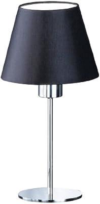 Honsel Leuchten 90721 Tischleuchte chrom Schirm schwarz von Honsel bei Lampenhans.de