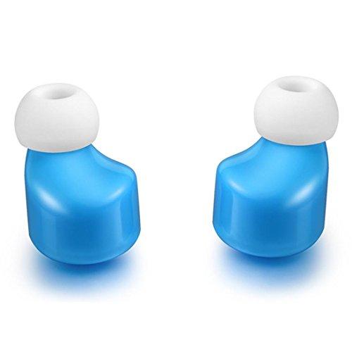 Preisvergleich Produktbild Wireless Bluetooth Kopfhörer Headset Kopfhöre Mini TWS Zwillinge Kabelloses Bluetooth Stereo Kopfhörer In-Ear Ohrhörer (Blue)