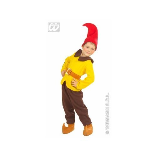 Kinderkostüm Gnom Gr.116 gelb - (Zwerg Kostüme Braun Kind)