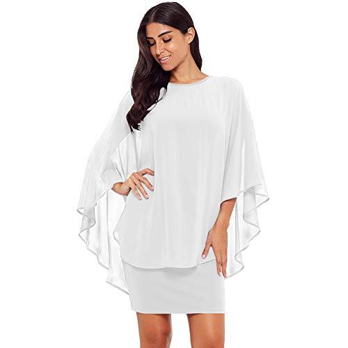Cxlyq Kleid Minikleid Rundhalsausschnitt Sexy Tüll Schal Slim Bag Hip Größe Frauen-Stil 220424 - Slim-schal