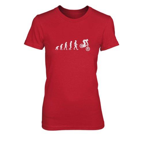 Planet Nerd - Evo Downhill - Damen T-Shirt Rot