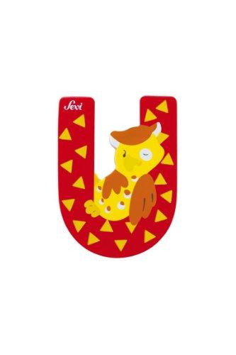 Trudi 81629 - Sevi Tierbuchstabe Uhu U rot