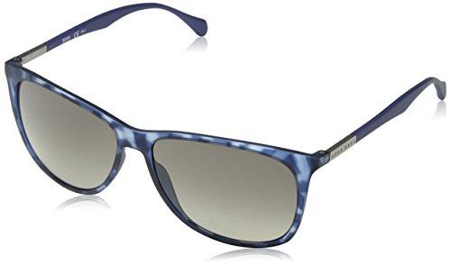 BOSS Hugo Herren 0823/S DX YX2 Sonnenbrille, Blau (Bluette Havana/Dk Grey Sf), 58