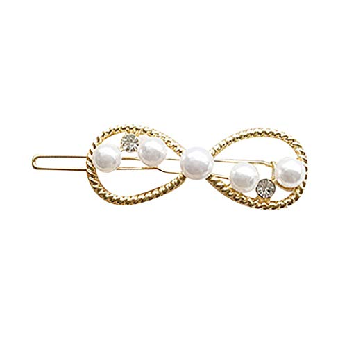 Clacce INS Damen Frauen Nettes Mädchen Perle Perle Barrette Haarspange Haarnadel Haarschmuck Geschenk