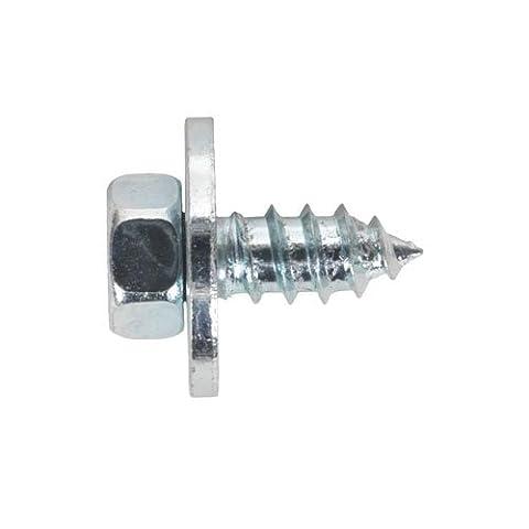 Sealey Asw121Acme Vis avec rondelle M12x 1/5,1cm Zinc BS 7976/6903/B Lot de 50