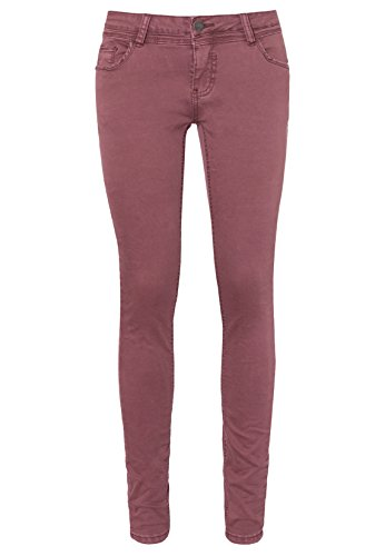 SUBLEVEL Damen Stretch Hose | Elegante Twill-Hose im 5 Pocket Design Skinny Fit dark-red L (Hose Twill Jeans)
