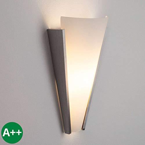 Lindby Wandleuchte, Wandlampe Innen 'Magnus' dimmbar (Modern) u.a. für Flur & Treppenhaus (1 flammig, E14, A++) - Wandstrahler, Wandbeleuchtung Schlafzimmer/Wohnzimmer, Flurleuchte