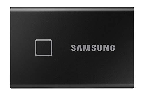 Samsung T7 Touch Portable SSD - 500 GB - USB 3.2 Gen.2 External SSD Metallic Black (MU-PC500K/WW)