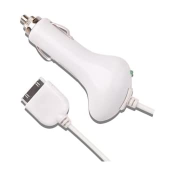 In Car charger for Apple iPhone 4 4S, 3G 3GS(Black) iPod Touch, Nano, Classic, CE Approved