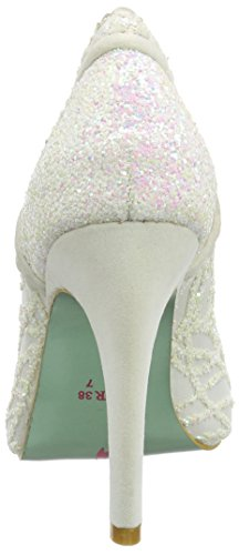 Poetic Licence by Irregular Choice Loren Love, Escarpins femme Off-White (Cream Glitter)