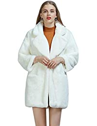 iBaste 2018 Fashion Mantel Damen Fell Kunstfell Langer Mantel Mantel Damen  Herbst und Winter des Dicken 081620cc01