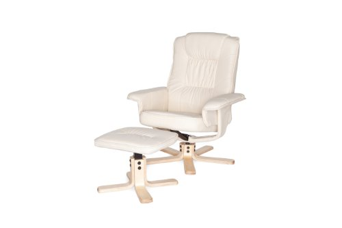 Amstyle Comfort Relaxsessel mit Hocker - 6