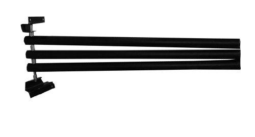 Deckenhalter zum Klappen 3 armig schwarz | Deckenhalterung mit 3 Armen schwenkbar |Pferdedeckenhalterung 3-armig