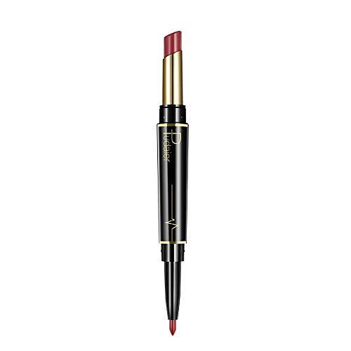 TOWAKM Lippenstift,Dauerhafter Lipliner Lip Liner Stift Mit Bleistift in 16 Farben -
